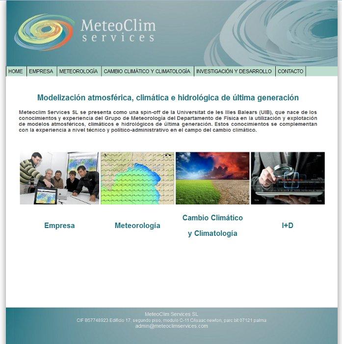 Meteoclim Services Website
